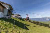 Bergstation mit Restaurant der Luftseilbahn Gummenalp, Nidwalden, Schweiz, Europa