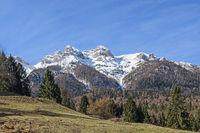Die Vigolanaberge sind eine Gebirgsgruppe imTrentino mit Gipfeln