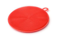 Silicone red dish washing brush