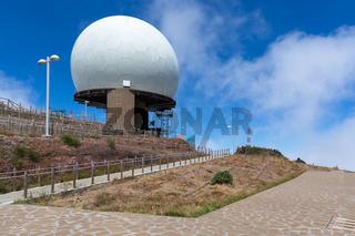 Radar station at top of Pico do Arieiro, Madeira Island