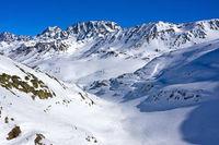 Tal Combe de Morts beim Grossen St. Bernhard Pass, Bourg-Saint-Pierre, Entremont, Wallis, Schweiz