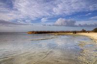 View over lake IJsselmeer