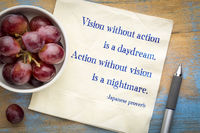 Vision without action is a daydream.
