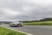 Mercedes-Benz 190 SL bei der 24. ADAC Oldtimerfahrt am 2.6.2018 in Ranis, Thüringen