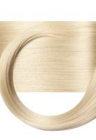 Closeup on luxurious straight glossy blonde hair