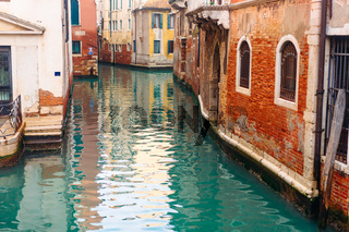 Colourful and relaxing canal in Venice