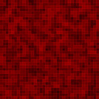 Red ceramic glass colorful tiles mosaic composition pattern background.