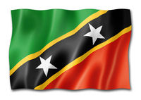 Saint Kitts And Nevis flag isolated on white