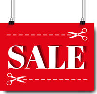 Sale Banner And Text White Background