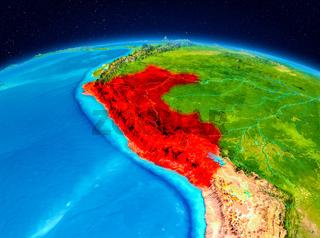 Peru from orbit