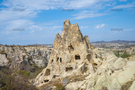 View of Cappadocia landscape in Goreme, Turkey