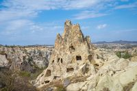 View of Cappadocia landscape in Goreme, Turkey