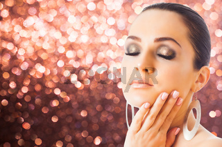 Beauty and nail fashion industry concept woman