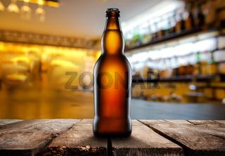 Beer in dark pub