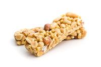 Sweet nut bars with honey.