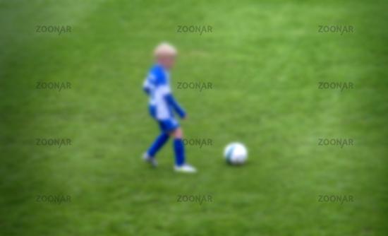 Football on field for boys team