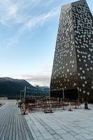 Moderne Architektuer in Åndalsnes, Norwegen