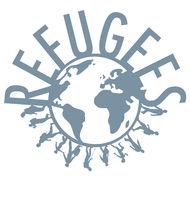 Refugee word concept around the world