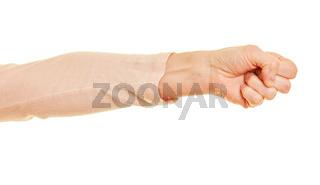 Arm mit geballter Faust