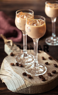 Two Glasses Of Irish Cream Liqueur