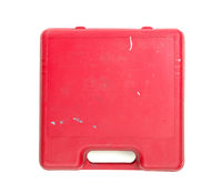 Old dirty red toolbox