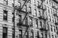 A fire escape of an apartment building in New York city