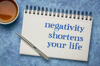 negativity shortens your life