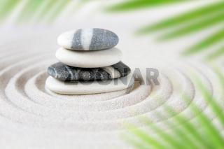 Zen natural japanese garden background