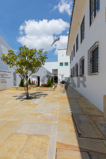 Bogota art Museum Bank of the Republic entrance courtyard