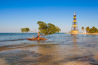 Lighthouse on the Cayo Jutias beach, Cuba