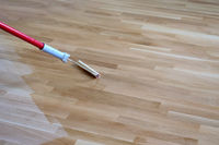 Varnishing Lacquering Parquet Floor