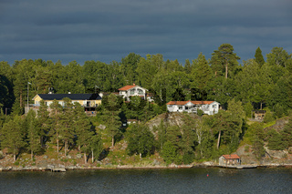 Bright day in the Stockholm archipelago