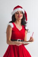 Santa girl with wish list
