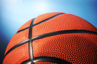 Basketball on blue