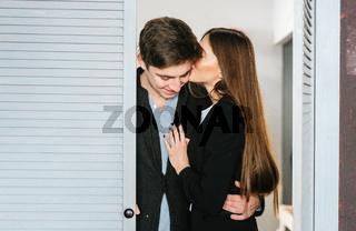 Couple in the doorway