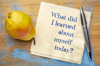 What did I learned about myself today?