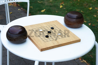 Go japanese strategy board game