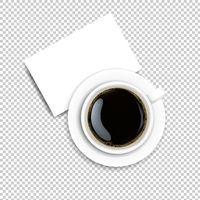 Cup With Coffee And Plate Transparent Background
