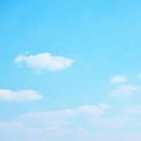 Cyan blue sky with clouds
