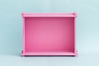 Pink Wooden Fruit and Vegetable Box