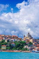 View of Porto Maurizio on the Italian Riviera in the province of Imperia