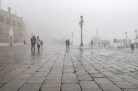 Fog Winter Urban Scene, Venice, Italy
