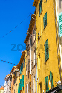 Historic architecture of Cannes on a sunny day