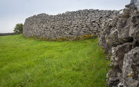 Historical site with wall of stones