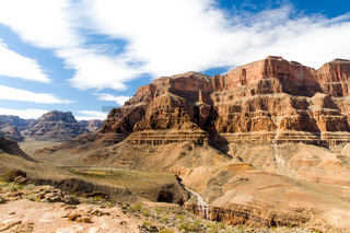 view of grand canyon cliffs and desert
