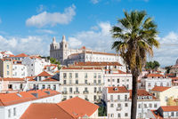 View over the roofs of the Alfama district, the oldest neighborhood of Lisbon
