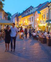 Tourist restaurants Old Town. Zagreb