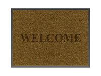Brown welcome doormat
