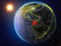 Colombia on Earth with network