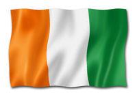 Ivorian flag isolated on white